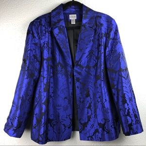 Chicos Royal Blue Silk Blazer